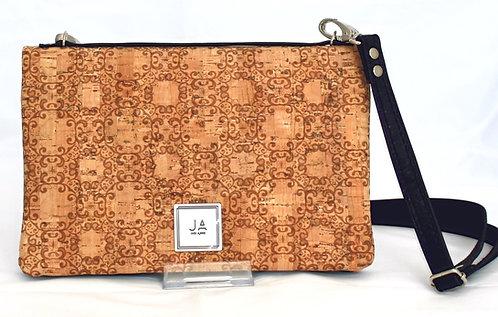 2-In-1 Crossbody Handbag-Natural Scroll & Black