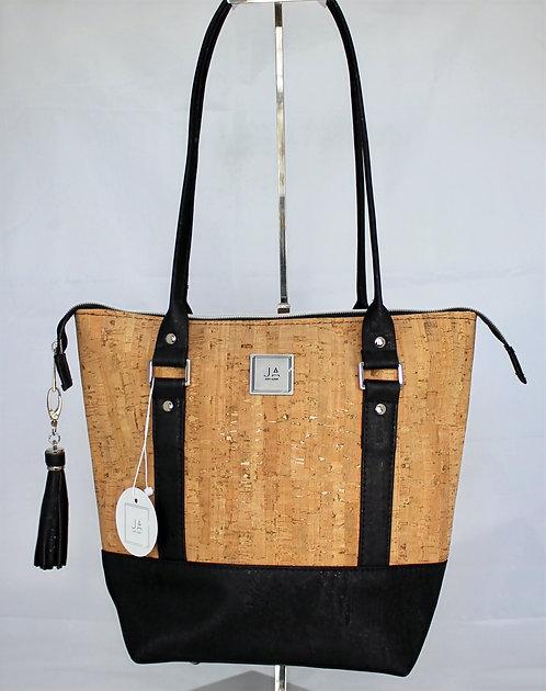 Shoulder Bag - Natural & Black