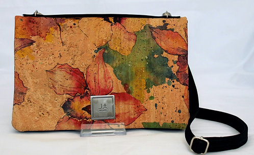 2-In-1 Crossbody Handbag - Watercolour Floral & Black