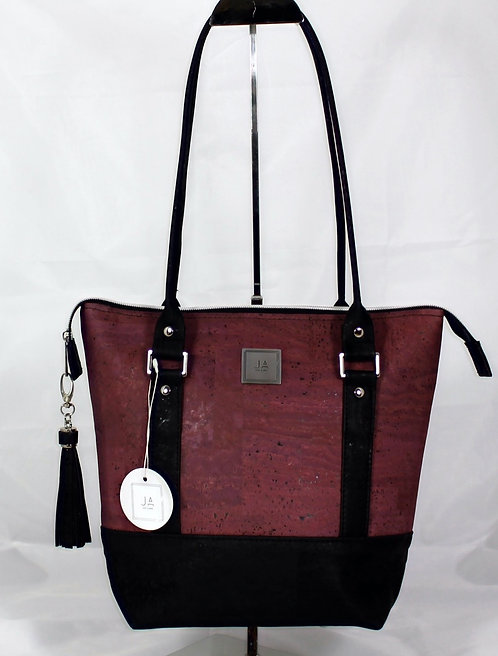 Shoulder Bag - Plum & Black