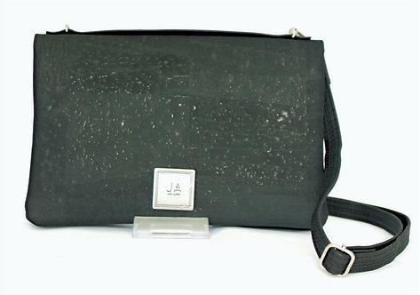 2-In-1 Crossbody Handbag - Black