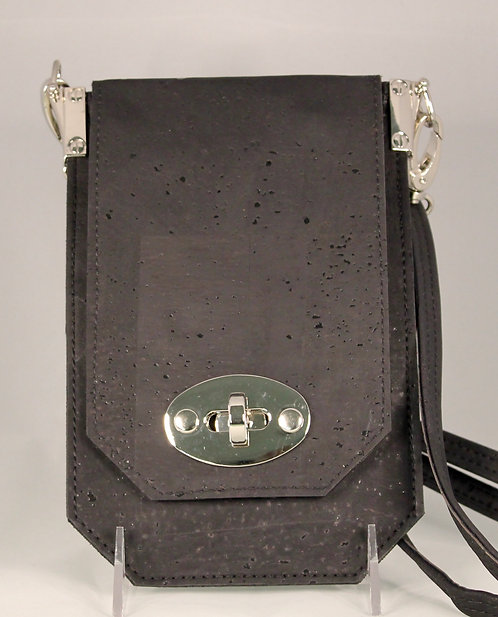 Cell Phone Cross Body Handbag - Black