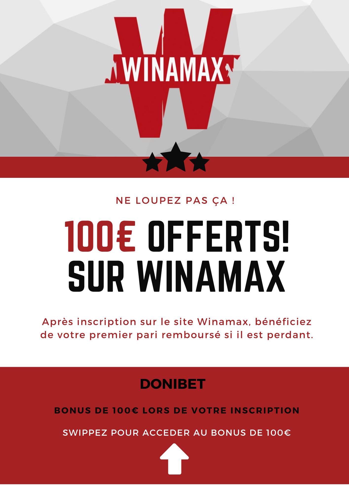 Winamax 100€ offerts!
