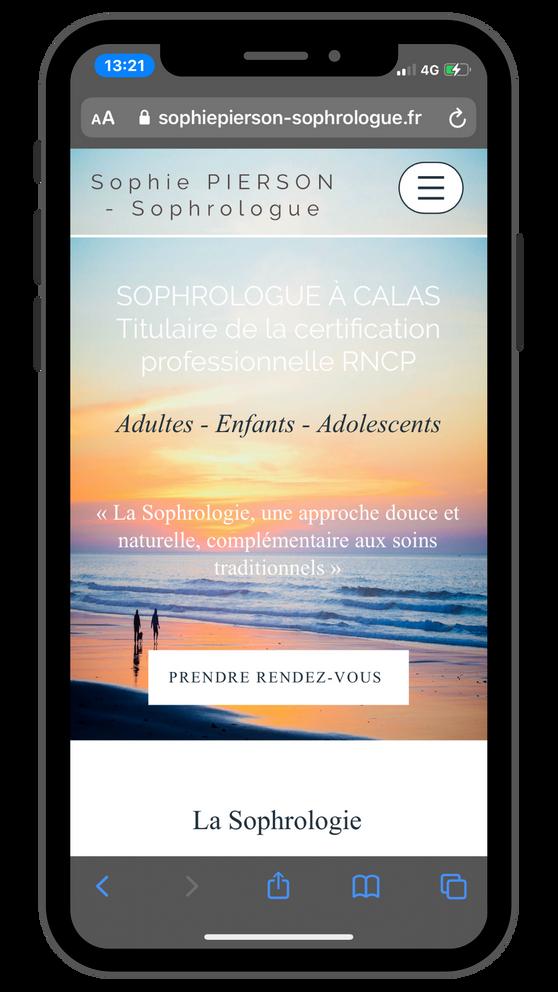 Création site Internet Luberon - Sophie Pierson Sophrologue - Doniworld