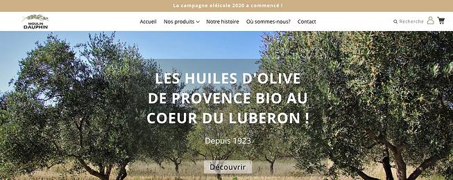 Moulin Dauphin création site internet