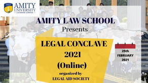 Amity University, Lucknow Campus, is organizing The Amity Legal Conclave 2021