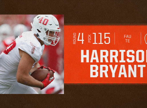 Browns' TE Harrison Bryant Quotes 9.1.20