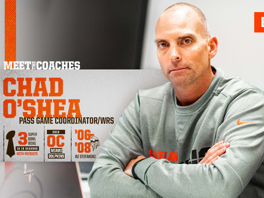 Browns' Pass Game Coordinator/WRs Coach Chad O'Shea Quotes 8.29.20