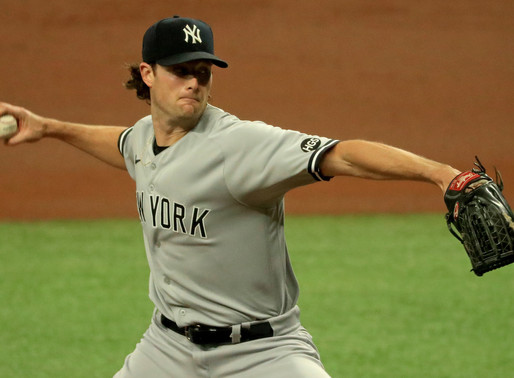 Cole, Torres Dominate Indians in 12-3 Rout as Yankees Take 1-0 Series Lead