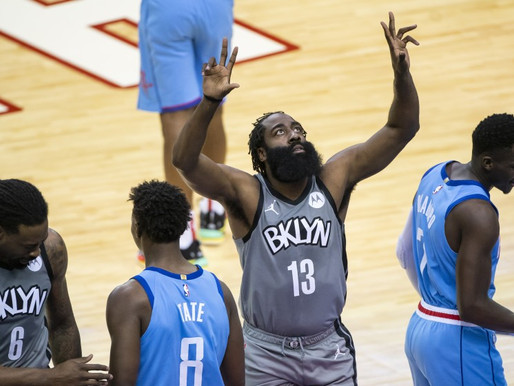 Nets Notes: Harden brilliant in return to Houston, Nets collect 7th straight victory