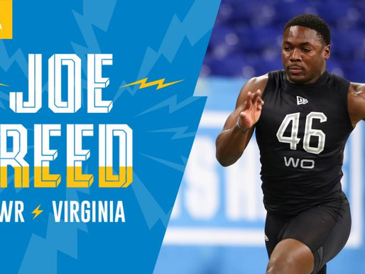 Chargers' WR Joe Reed Quotes 4.25.20