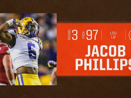 Browns' LB Jacob Phillips Quotes 9.1.20