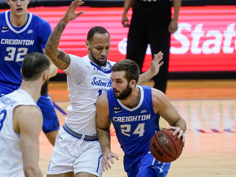 No. 17 Creighton erases 16-point lead in win over Pirates