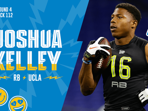 Chargers' RB Joshua Kelley Quotes 4.25.20