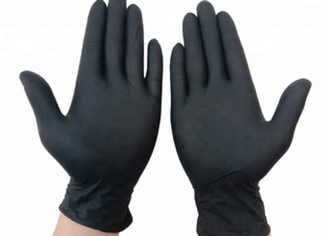 Black Nitrile, Powder Free Disposable Gloves