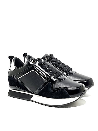 TOMMY HILFIGER LEATHER WEDGE SNEAKER FW0FW04420-990