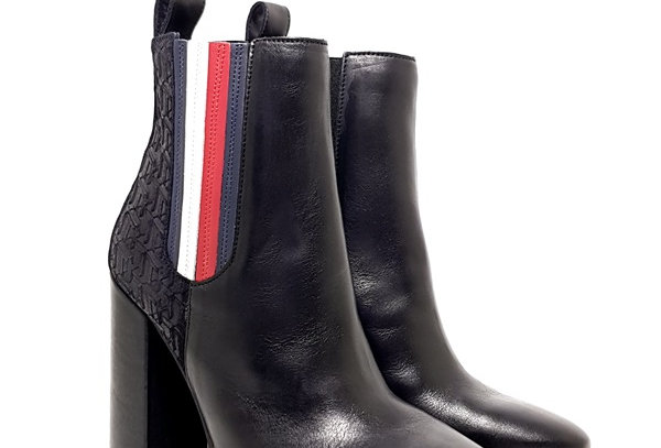 TOMMY HILFIGER SPORTY MONOGRAM HIGH BOOTIE FW0FW04324-990