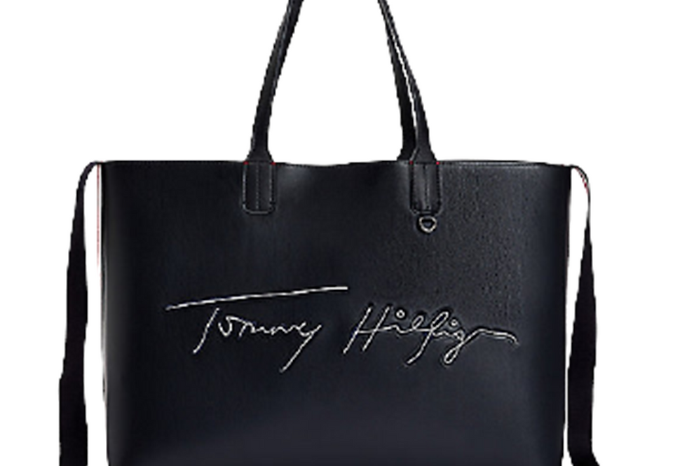 TOMMY HILFIGER ICONIC TOMMY TOTE SIGNATURE AW0AW09707-DW5