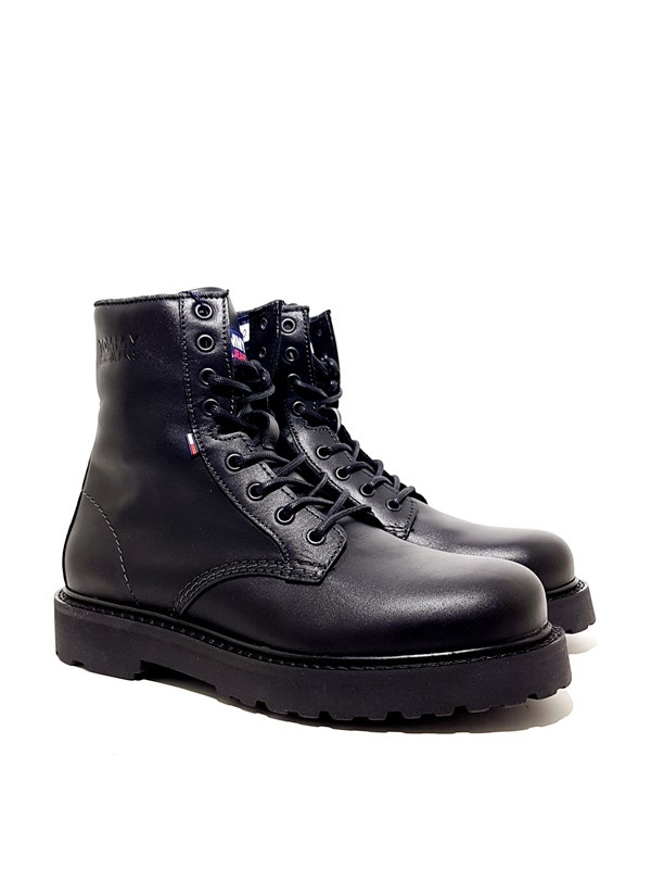 TOMMY JEANS MENS LEATHER LACE UP BOOT-andriko-arvylaki