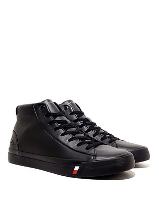 TOMMY HILFIGER CORPORATE LEATHER SNEAKER HIGH FM0FM02984-BDS