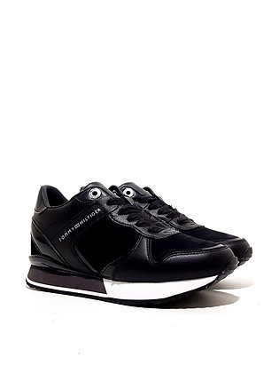 TOMMY HILFIGER DRESSY WEDGE MAT MIX SNEAKER FW0FW05239-BDS