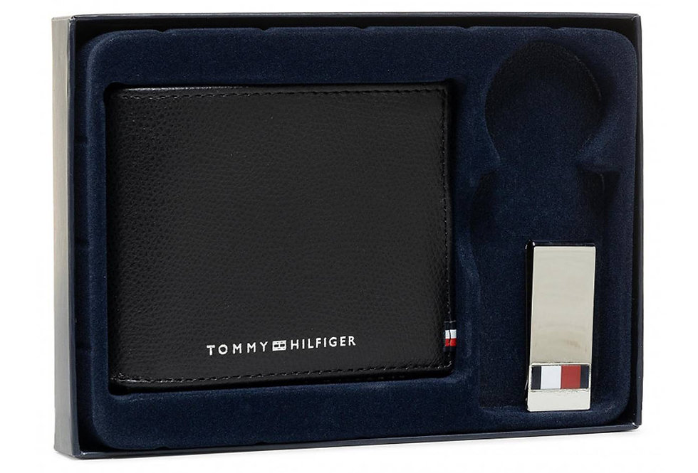 TOMMY HILFIGER BUSINESS MINI CC WALLET AND CLIP AM0AM06723-BDS