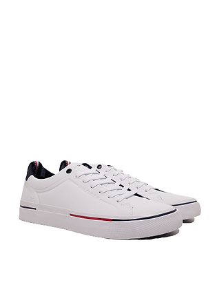 TOMMY HILFIGER CORPORATE LEATHER SNEAKER FM0FM02985-100