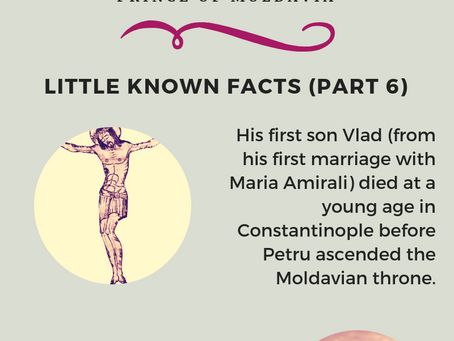 Peter VI The Lame - Prince of Moldavia (Little Known Facts Part 6)