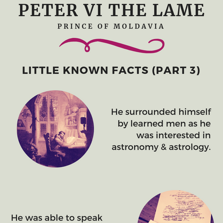 Peter the Lame - Little Known Facts (Part 3)