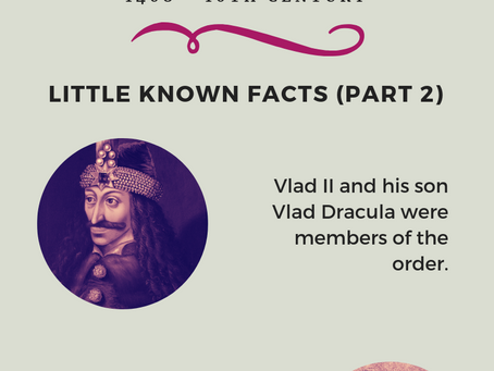 Order of the Dragon - Little Known Facts (Part 2)