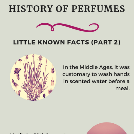 History of Perfumes - Little Known Facts (Part 2)