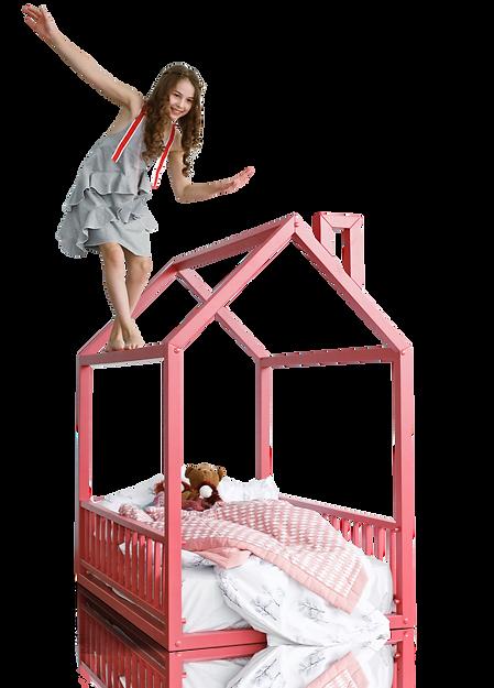 Напольная кровать домик монтессори