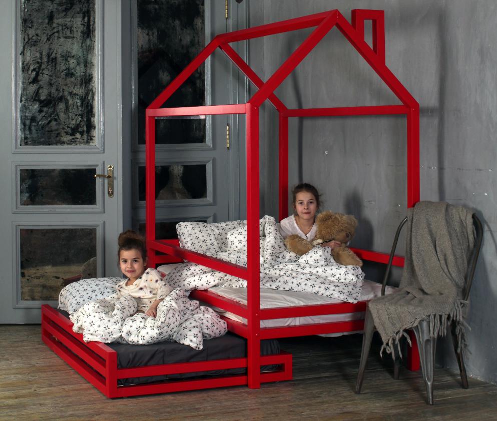 Выкатная детская кровать