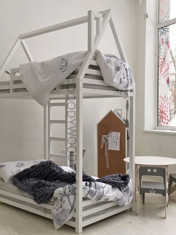 двухэтажная кровать домик для мальчиков