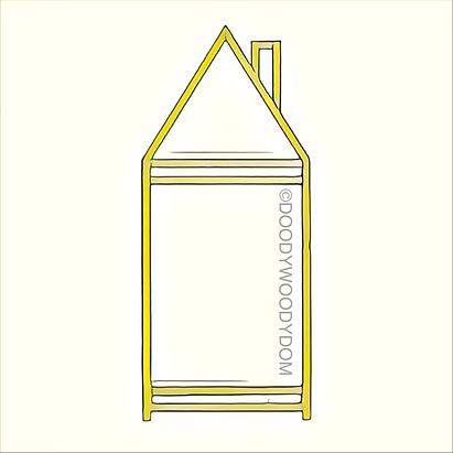 двухъярусная кровать домик doodywoodydom