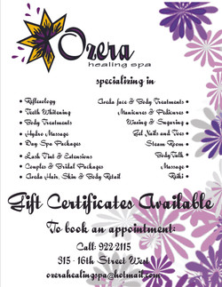 Ozera Healing Spa & Salon - Gift