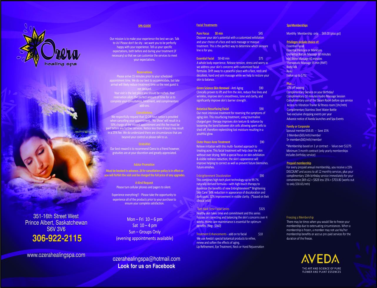 Ozera Healing Spa & Salon - Front