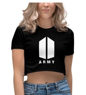 BTS ARMY LOGO CROP TOP