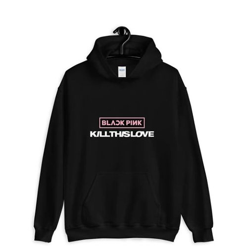 BLACKPINK KILL THIS LOVE LOGO HOODIE FOR MEN AND WOMEN