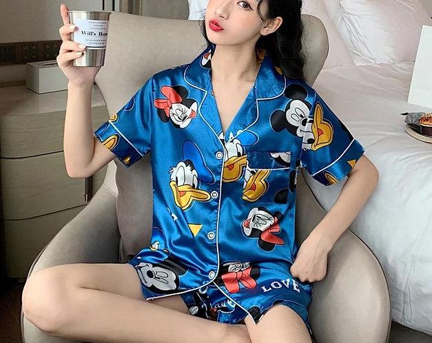 Mickey Mouse Satin Sleepwear