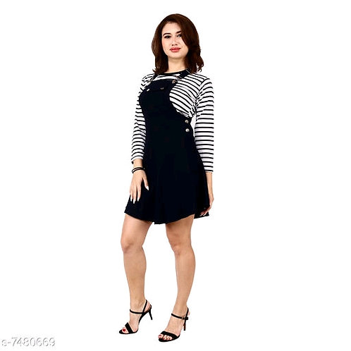 Pinafore Short Dress