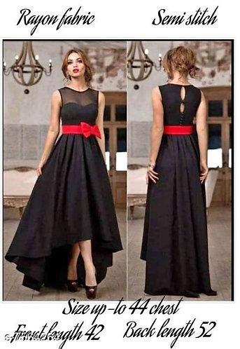 Women's High Low Rayon Dress