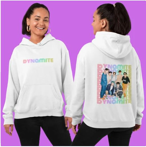 BTS - DYNAMITE FRONT AND BACK HOODIE