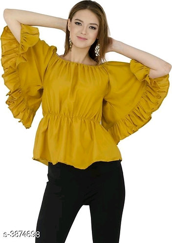 Top with Ruffle Sleeves