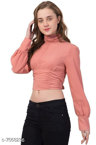 Turtle Neck Backless Top