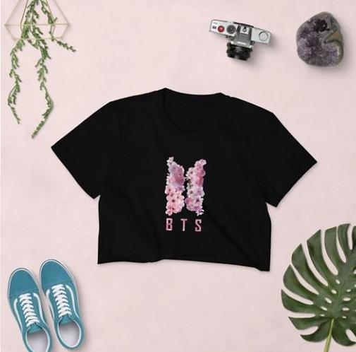 BTS PINK FLOWER CROP TOPS