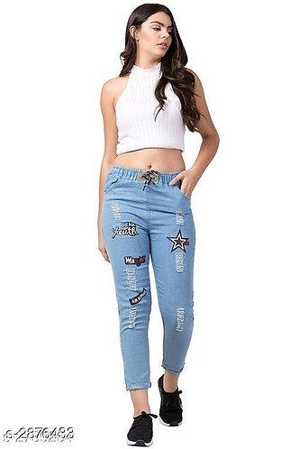 Drawstring Funky Denim Jeans