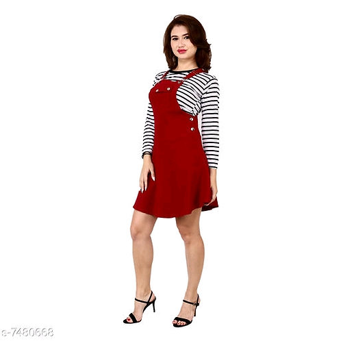 Pinafore Short Dress