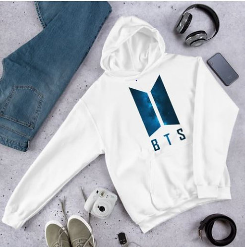 BTS LOGO BLUE GALAXY HOODIE FOR MEN AND WOMEN