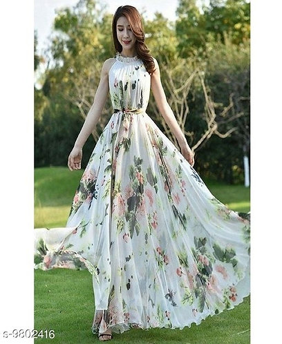 Flared Long Gown
